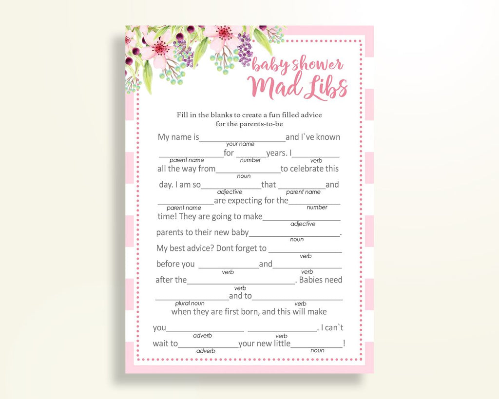 image relating to Baby Shower Mad Libs Printable called Nuts Libs Boy or girl Shower Insane Libs Red Kid Shower Crazy Libs Boy or girl Shower Bouquets Outrageous Libs Red Eco-friendly bash things instantaneous down load 5RQAG - Electronic Substance