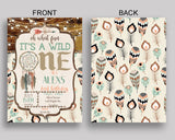 Rustic Birthday Invitation Wild One Birthday Party Invitation Rustic Birthday Party Wild One Invitation Boy wild one bohemian XGWG5 - Digital Product