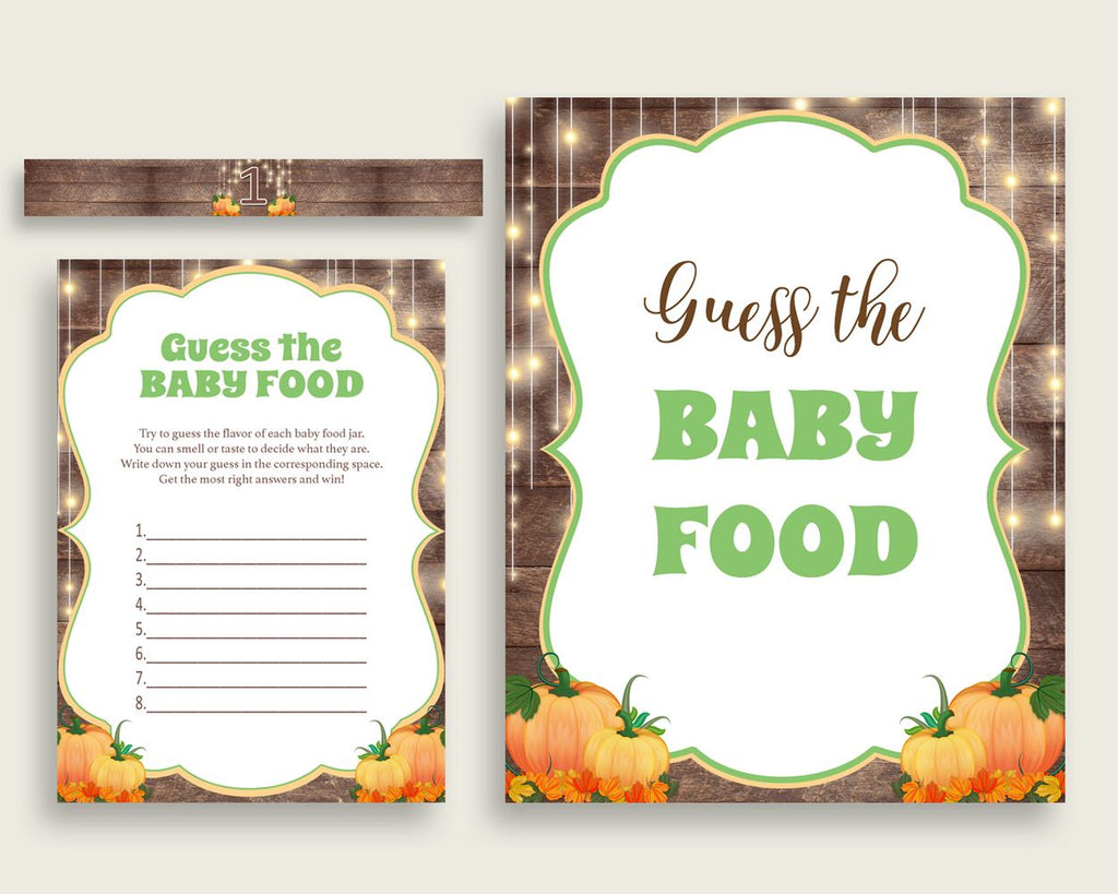 Baby Food Guessing Baby Shower Baby Food Guessing Autumn Baby Shower Baby Food Guessing Baby Shower Autumn Baby Food Guessing Brown 0QDR3 - Digital Product