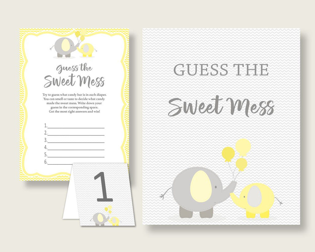 Sweet Mess Baby Shower Sweet Mess Yellow Baby Shower Sweet Mess Baby Shower Elephant Sweet Mess Yellow Gray shower celebration party W6ZPZ