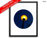 Street Lamp Print, Beautiful Wall Art with Frame and Canvas options available Streetlight Decor