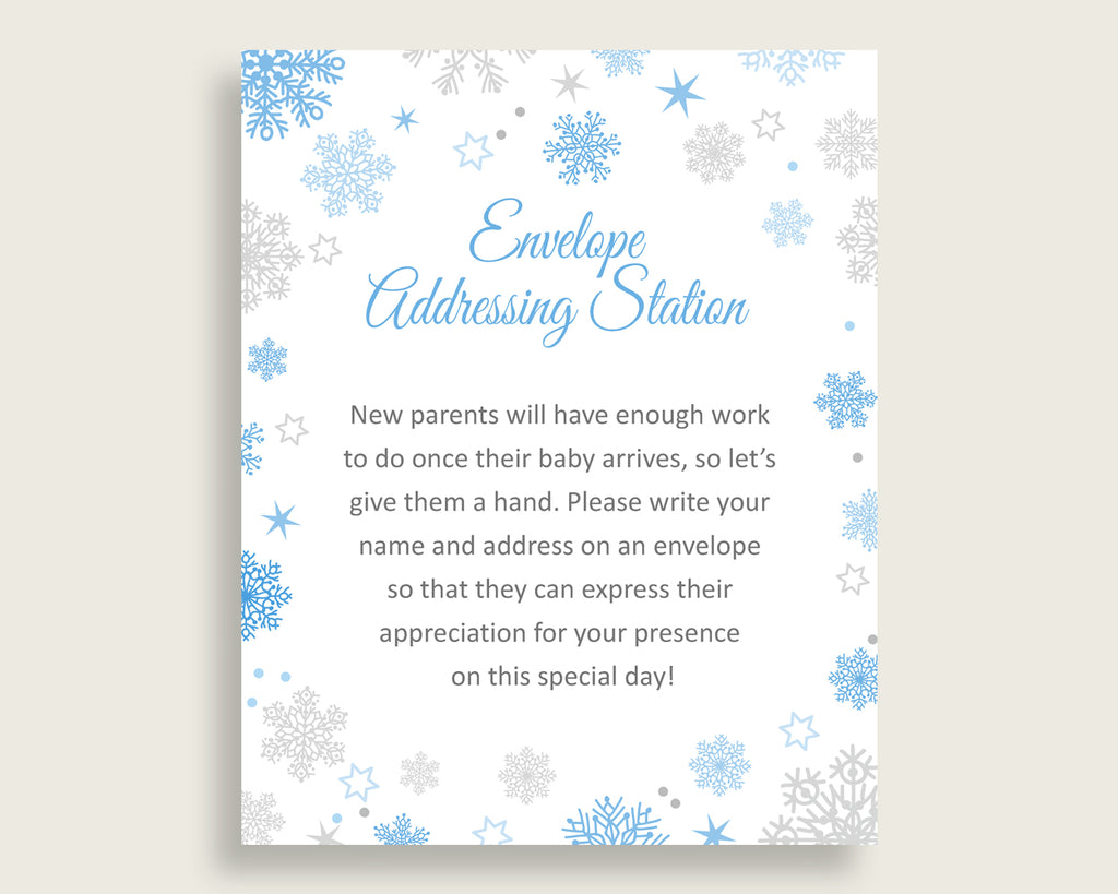 Envelope Addressing Baby Shower Envelope Addressing Snowflake Baby Shower Envelope Addressing Blue Gray Baby Shower Snowflake Envelope NL77H