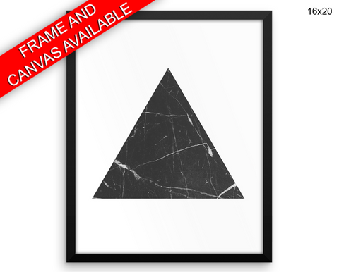 Marble Triangle Print, Beautiful Wall Art with Frame and Canvas options available Geometric Decor