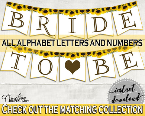 Banner Bridal Shower Banner Sunflower Bridal Shower Banner Bridal Shower Sunflower Banner Yellow White party organizing, party plan SSNP1 - Digital Product