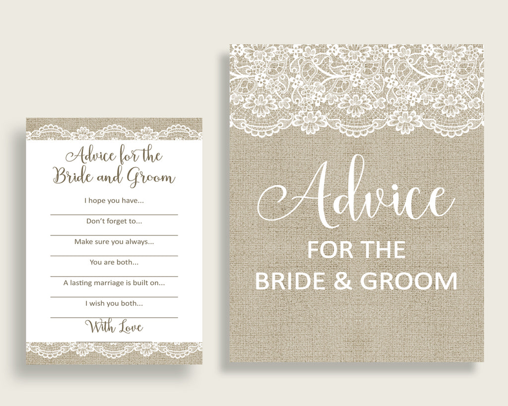 Advice Bridal Shower Advice Burlap And Lace Bridal Shower Advice Bridal Shower Burlap And Lace Advice Brown White party planning NR0BX