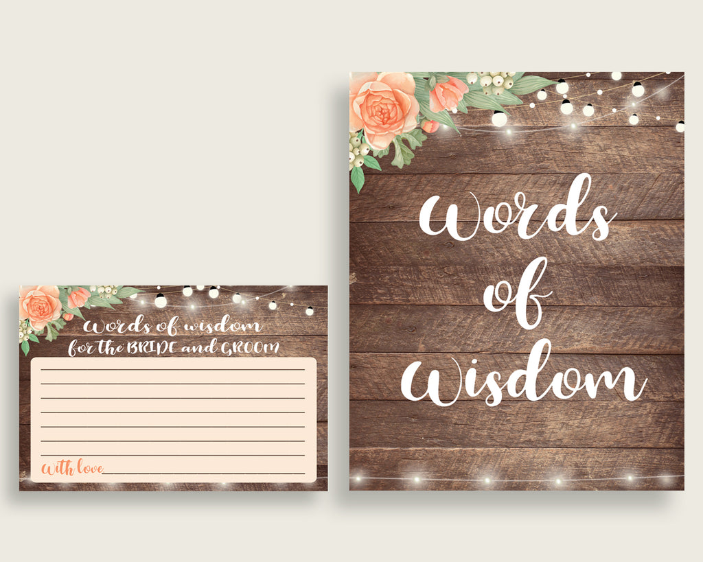 Words Of Wisdom Bridal Shower Words Of Wisdom Rustic Bridal Shower Words Of Wisdom Bridal Shower Flowers Words Of Wisdom Brown Beige SC4GE