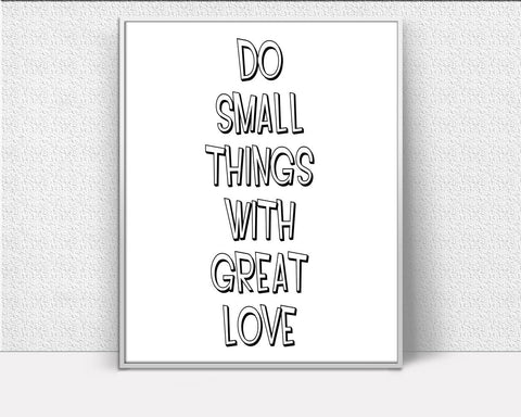 Wall Art Little Things Digital Print Little Things Poster Art Little Things Wall Art Print Little Things Inspirational Art Little Things - Digital Download