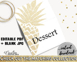 Food Tent Bridal Shower Food Tent Pineapple Bridal Shower Food Tent Bridal Shower Pineapple Food Tent Gold White party ideas, prints 86GZU - Digital Product