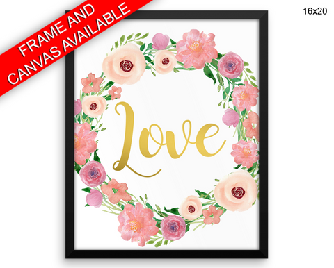 Romantic Print, Beautiful Wall Art with Frame and Canvas options available Love Decor