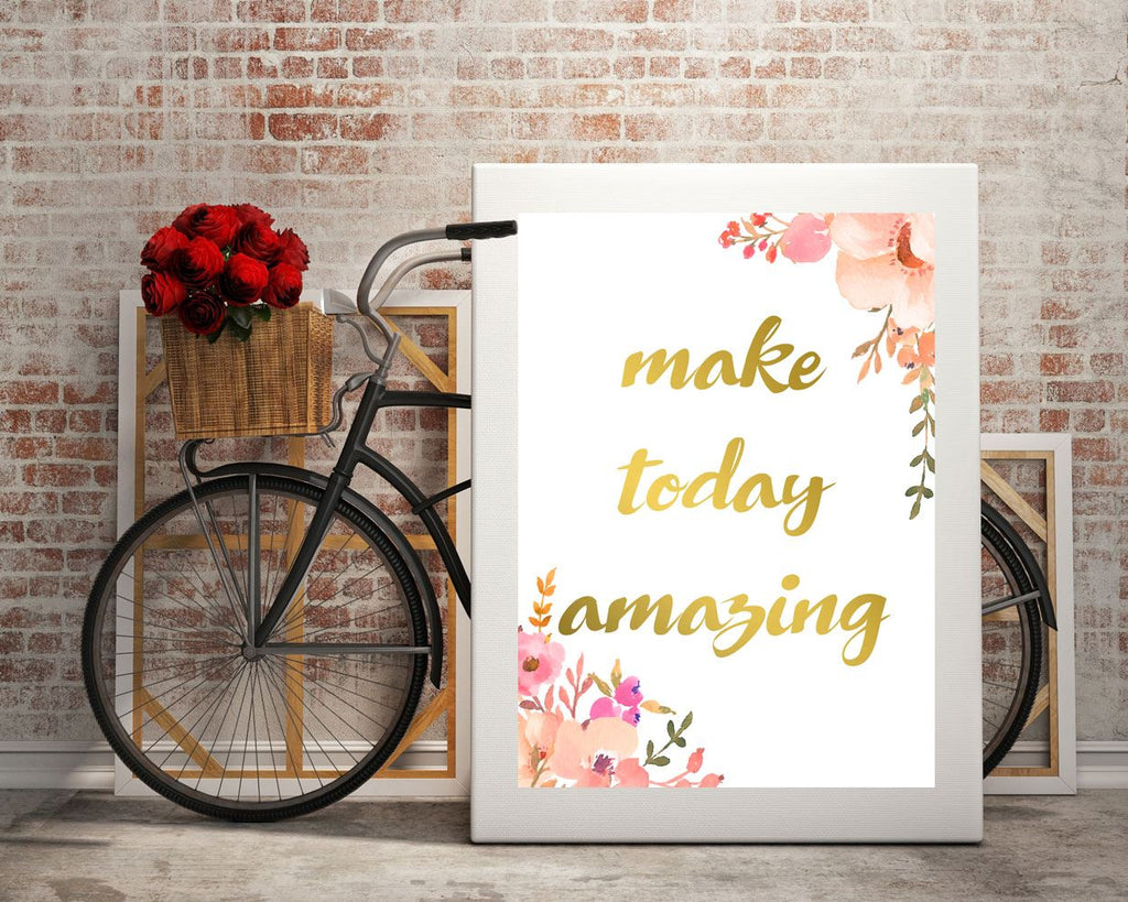 Wall Art Inspire Digital Print Today Poster Art Inspire Wall Art Print Today  Wall Decor Inspire digital art digital print positive quote - Digital Download