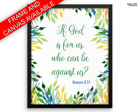 Scripture Romans Print, Beautiful Wall Art with Frame and Canvas options available Christian Decor