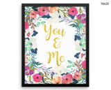 You And Me Print, Beautiful Wall Art with Frame and Canvas options available  Decor