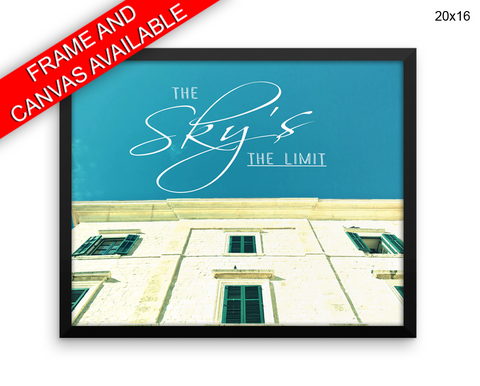 Sky Limit Print, Beautiful Wall Art with Frame and Canvas options available Photography Decor