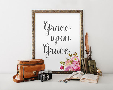 Wall Art Grace Upon Grace Digital Print Grace Upon Grace Poster Art Grace Upon Grace Wall Art Print Grace Upon Grace Inspirational Art Grace - Digital Download