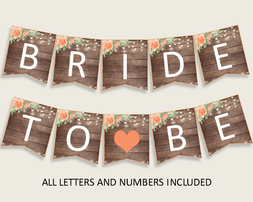 Banner Bridal Shower Banner Rustic Bridal Shower Banner Bridal Shower Flowers Banner Brown Beige digital print pdf jpg party theme SC4GE
