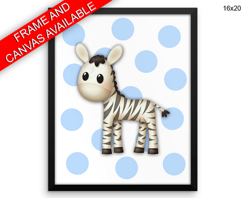 Zebra Print, Beautiful Wall Art with Frame and Canvas options available Nursery Decor