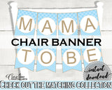 Little Lamb Blue Baby shower CHAIR BANNER boy blue printable theme printable with sheep, digital files, Jpg Pdf, instant download - fa001