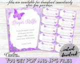 Diaper Raffle Baby Shower Diaper Raffle Butterfly Baby Shower Diaper Raffle Baby Shower Butterfly Diaper Raffle Purple Pink prints 7AANK - Digital Product