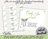 Candy Guessing Game Bridal Shower Candy Guessing Game Modern Martini Bridal Shower Candy Guessing Game Bridal Shower Modern Martini ARTAN - Digital Product