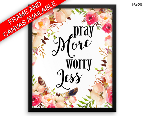 Pray Print, Beautiful Wall Art with Frame and Canvas options available Holy Decor