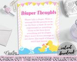 Diaper Thoughts Baby Shower Diaper Thoughts Rubber Duck Baby Shower Diaper Thoughts Baby Shower Rubber Duck Diaper Thoughts Purple rd001