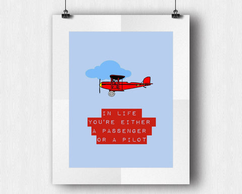 Wall Art Pilot Digital Print Passanger Poster Art Pilot Wall Art Print Passanger Inspirational Art Passanger Inspirational Print Pilot Wall - Digital Download