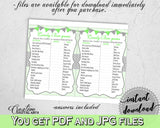 CANDY BAR baby shower boy girl game with chevron green theme printable, digital files, Jpg Pdf, instant download - cgr01