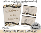 Advice For The Bride To Be in Seashells And Pearls Bridal Shower Brown And Beige Theme, instructions bride, party ideas, prints - 65924 - Digital Product