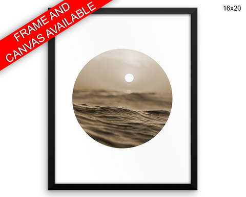 Ocean Sunset Print, Beautiful Wall Art with Frame and Canvas options available  Decor