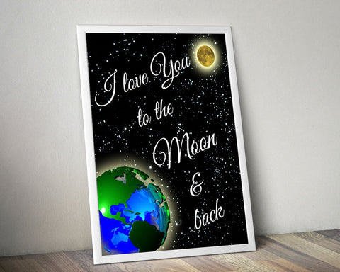 Wall Art Love Digital Print Love Poster Art Love Wall Art Print Love Nursery Art Love Nursery Print Love Wall Decor Love stars - Digital Download