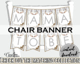 Chair Banner Baby Shower Chair Banner Deer Baby Shower Chair Banner Baby Shower Deer Chair Banner Gray Brown party ideas - Z20R3 - Digital Product