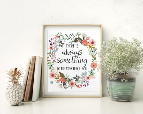 Wall Art Grateful Digital Print Grateful Poster Art Grateful Wall Art Print Grateful Home Art Grateful Home Print Grateful Wall Decor - Digital Download