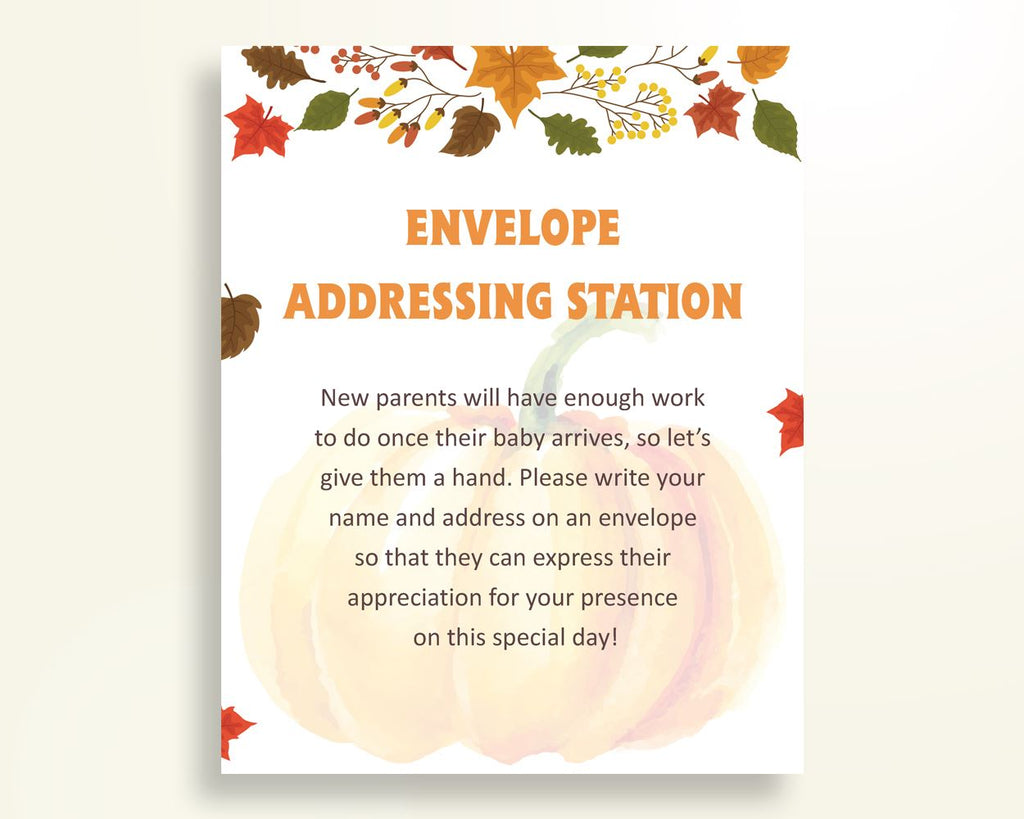 Envelope Addressing Baby Shower Envelope Addressing Autumn Baby Shower Envelope Addressing Baby Shower Pumpkin Envelope Addressing OALDE - Digital Product