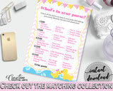 Whats In Your Purse Baby Shower Whats In Your Purse Rubber Duck Baby Shower Whats In Your Purse Baby Shower Rubber Duck Whats In Your rd001