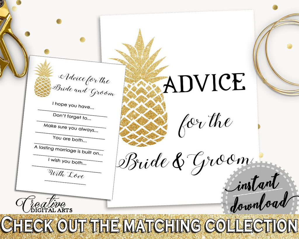 Advice For The Bride And Groom Bridal Shower Advice For The Bride And Groom Pineapple Bridal Shower Advice For The Bride And Groom 86GZU - Digital Product