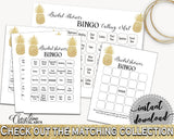 Bingo 60 Cards Bridal Shower Bingo 60 Cards Pineapple Bridal Shower Bingo 60 Cards Bridal Shower Pineapple Bingo 60 Cards Gold White 86GZU - Digital Product