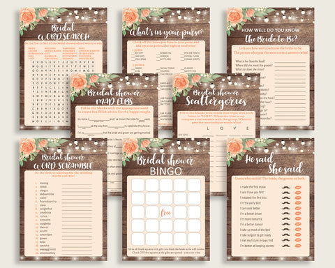 Games Bridal Shower Games Rustic Bridal Shower Games Bridal Shower Flowers Games Brown Beige party decor paper supplies party plan pdf SC4GE