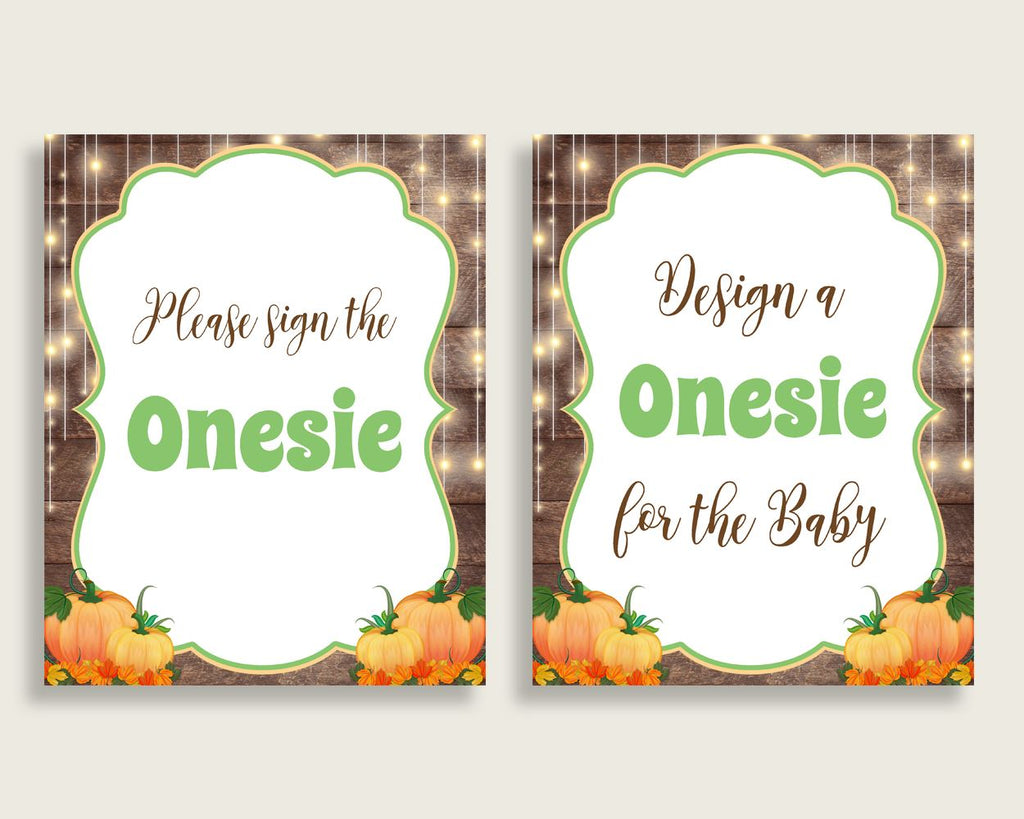 Sign The Onesie Baby Shower Design A Onesie Autumn Baby Shower Sign The Onesie Baby Shower Autumn Design A Onesie Brown Orange 0QDR3 - Digital Product