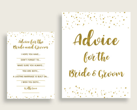 Advice Bridal Shower Advice Gold Bridal Shower Advice Bridal Shower Gold Advice Gold White party theme party organization pdf jpg G2ZNX