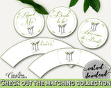 Cupcake Toppers And Wrappers Bridal Shower Cupcake Toppers And Wrappers Modern Martini Bridal Shower Cupcake Toppers And Wrappers ARTAN - Digital Product