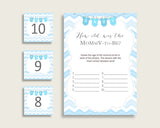 Blue White How Old Was The Mommy To Be, Boy Baby Shower Game Printable, Chevron Guess Mommy's Age Game, Instant Download, Stripy Lines cbl01