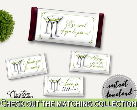 Hershey Wrappers Bridal Shower Hershey Wrappers Modern Martini Bridal Shower Hershey Wrappers Bridal Shower Modern Martini Hershey ARTAN - Digital Product