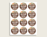 Favors Bridal Shower Favors Rustic Bridal Shower Favors Bridal Shower Flowers Favors Brown Beige digital download shower activity SC4GE