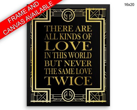 Love Gatsby Print, Beautiful Wall Art with Frame and Canvas options available  Decor