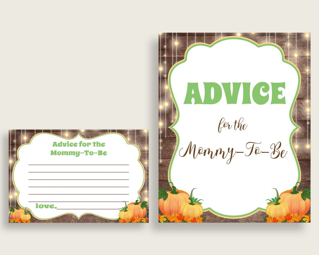 Advice Cards Baby Shower Advice Cards Autumn Baby Shower Advice Cards Baby Shower Autumn Advice Cards Brown Orange party plan 0QDR3 - Digital Product