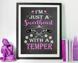 Wall Art Sweetheart Digital Print Sweetheart Poster Art Sweetheart Wall Art Print Sweetheart Office Art Sweetheart Office Print Sweetheart - Digital Download
