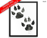Bear Paw Print, Beautiful Wall Art with Frame and Canvas options available Living Room Decor