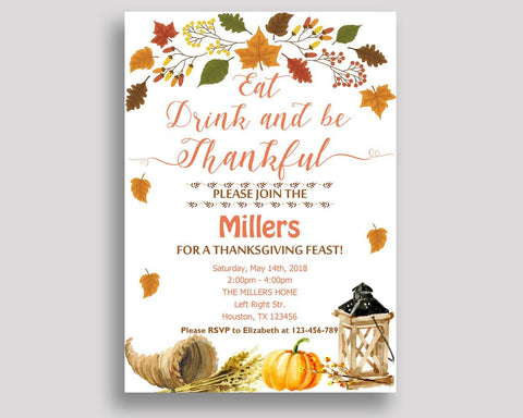 Thanksgiving Feast Invitation Thanksgiving Party Invitation Thanksgiving Dinner Party Thanksgiving Day Invitation Thanksgiving Turkey XRYOL - Digital Product
