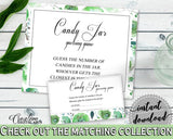 Candy Guessing Game Bridal Shower Candy Guessing Game Botanic Watercolor Bridal Shower Candy Guessing Game Bridal Shower Botanic 1LIZN - Digital Product