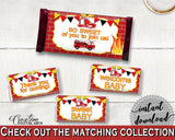 Candy Decorations Baby Shower Candy Decorations Fireman Baby Shower Candy Decorations Red Yellow Baby Shower Fireman Candy Decorations LUWX6 - Digital Product